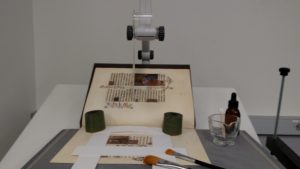 Techniques of conservation are on display during the open house.