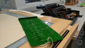Repairs may get as low-tech as hand sewing with needle and thread.