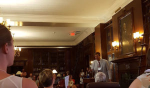 Director of RBS, Michael F. Suarez, welcomes students and faculty in the MacGregor Room, University of Virginia Alderman Library.
